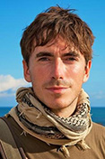 Simon Reeve with Sreepur Cards